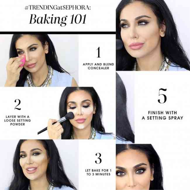 Step by step baking guide concealer guide from Sephora.