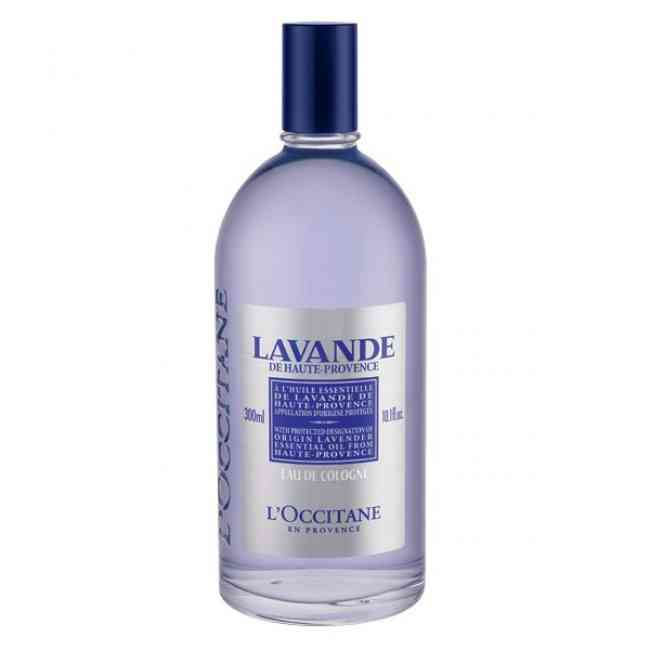 Bottle of L'Occitane Lavender Eau de Cologne