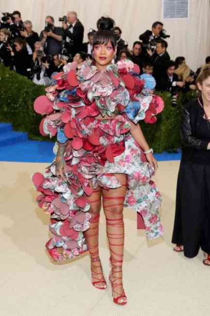 Rihanna at the Met Gala Ball 2017