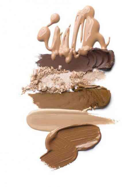 Different consistency's and colours of concealers.