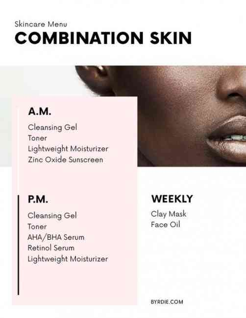 Combination Skincare Menu