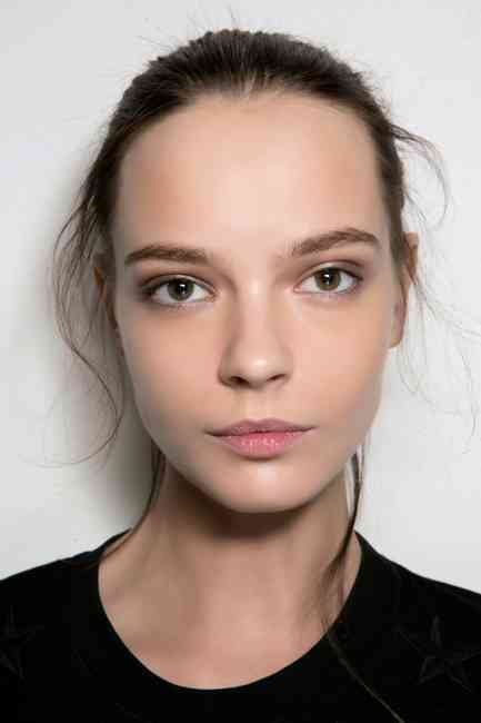 Girl with beautiful, glowing and healthy skin and complexion.