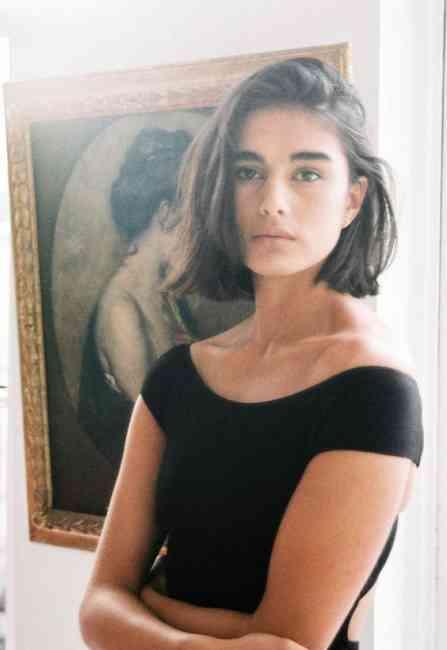 Beautiful brunette French girl.