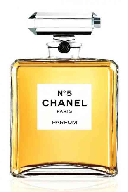 Bottle of Chanel No. 5 perfume by Chanel.