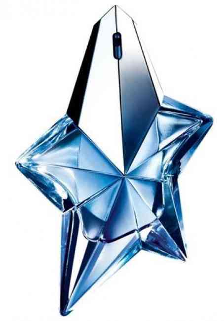 Bottle of Angel by Thierry Mugler, the first ever gourmand perfume.