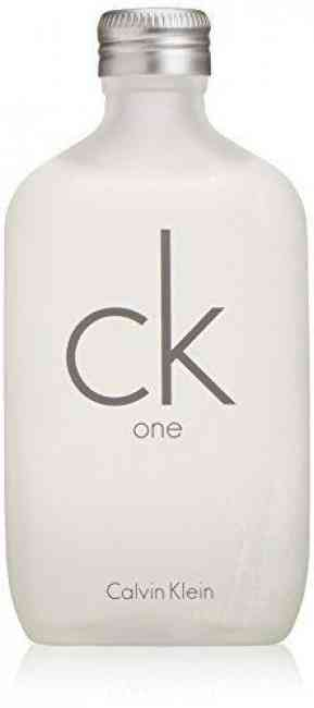 Bottle of CK one by Calvin Klein, a revolutionary unisex fragrance.