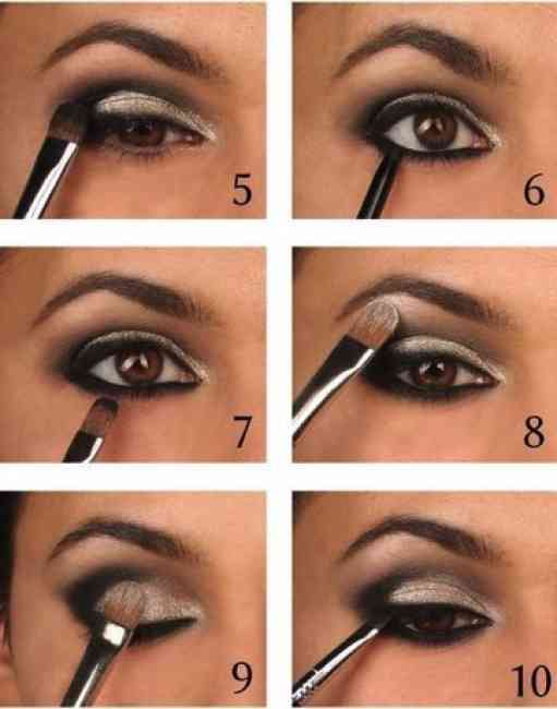 Steps to applying smoky eye.