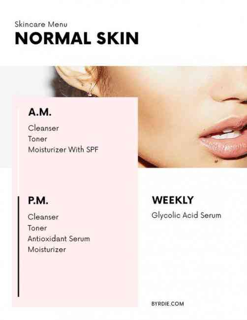 Normal Skincare Menu