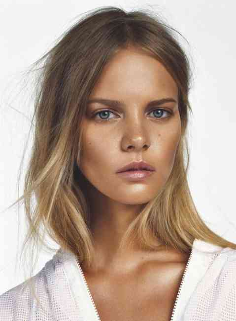 Sunkissed bronze makeup girl.
